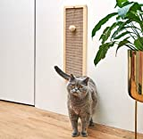 Wow.Wood Cat Scratching Post Wall Mounted Sisal cat Scratcher Durable Slim Scratch pad for Cats Vertical Mount Pine Natural Board