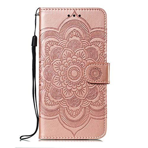 GIMTON Stoßfest Hülle für Galaxy S10, Brieftasche Klapphülle mit Geldfach und Kartenfach, Premium Magnetischen PU Leder für Samsung Galaxy S10, Rose Gold