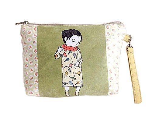 dessin animé style frais toile sacs cosmétique/bourse