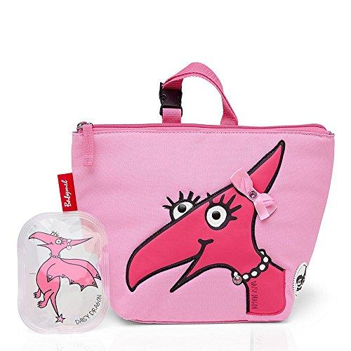 Zip & Zoe Lunchtasche mit Eisbeutel Kinderrucksack, Gänseblümchen-Drache (Pink) - BM 7706