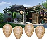 4 Pack Wasp Nest Decoy - Wasp Repellent Outdoor - Hanging Fake Wasp...