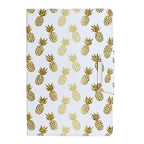 TUUNKMUY Funda para iPad Mini 6 2021 Tablet Cover Premium Cuero PU Ligero Delgado Ligero Concha Inteligente Cubierta de Soporte Protector Trasero, Piña