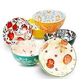 Conjunto de cuencos de porcelana de deectoo (18 onzas, 6 piezas) - tazones para...