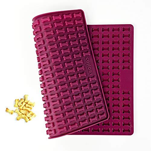 Collory Mini osso (2 cm), stampo in silicone per biscotti fai da te e dolcetti, stampo per cioccolatini, antiaderente, per alimenti senza BPA
