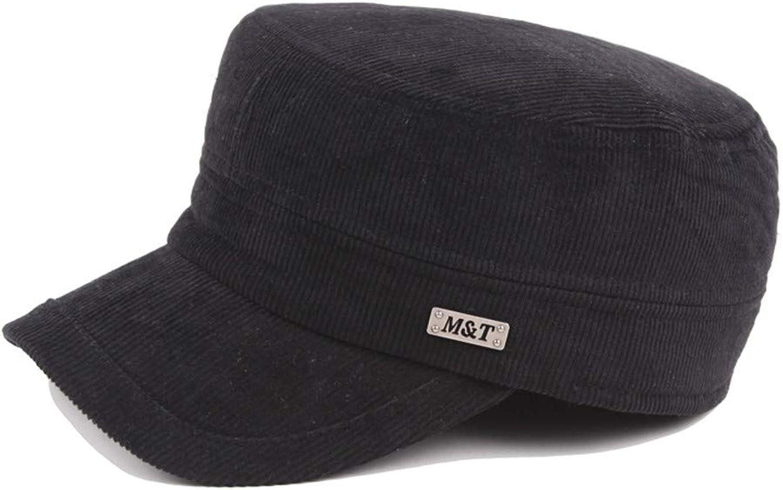 Corduroy Flat Cap, Ear Warmer Retro Casual hat, Cap for Men and Women caps,F