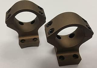 Talley X-Bolt Hells Canyon Riflescope Rings, 30mm, Low, Burnt Bronze Cerakote, HC730735
