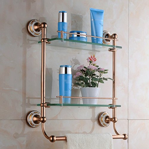 41 cm Glaskommode im europäischen Stil Doppel-Handtuchhalter für Badezimmer
