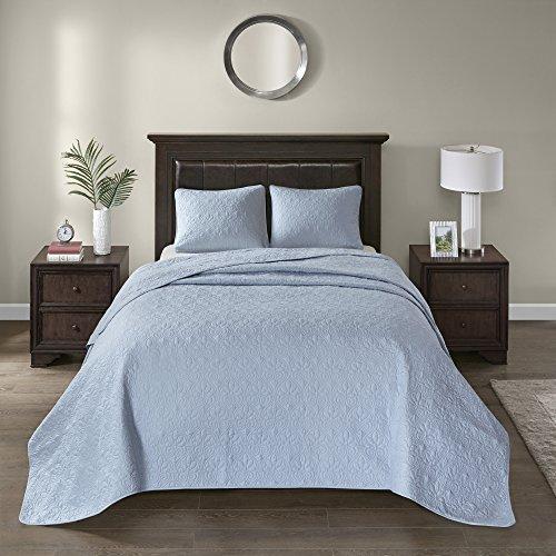 Vancouver Twin 2pc Reversible Bedspread Set Blue