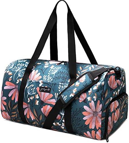 Jadyn 22″ Women's Large Duffel/Weekender Bag with Shoe Pocket, Travel Bag