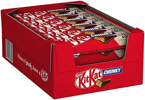 Kitkat Chunky Melkchocolade Reep – voordeelverpakking – doos met 24 chocoladerepen