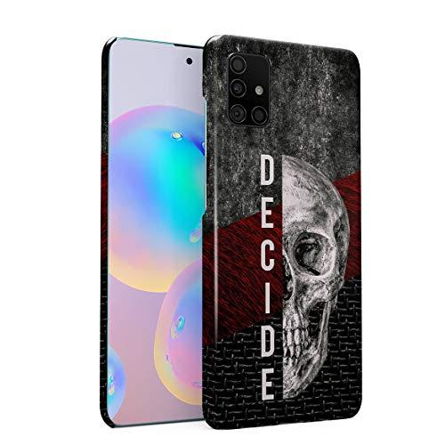 Hülle Hardcase Kompatibel mit Samsung Galaxy A71 Decide Schädel Skelett Gotisch Gau Marmor Marble Realistic Human Skull Grunge Skeleton Gothic Quote Depression eng Anliegendes Dünnes Handyhülle
