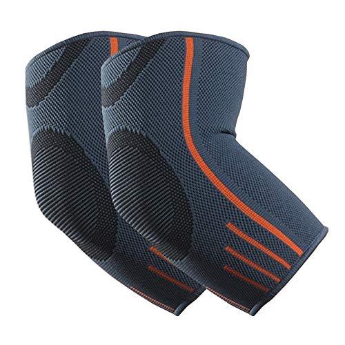 VITTO Ellenbogenbandage - Kompressionsarm für Sehnenentzündung - Arthritis - am besten als Tennisarm Bandage - Golfearm - Gewichtheben (M, Grau, 1 x Paar)