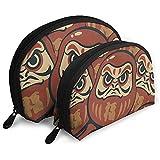 Aprenda los Deseos japoneses Mariscos Bolsa de cosméticos Forma de Concha Bolsas de Almacenamiento portátiles Bolsa de Aseo de Viaje (Incluye 2 Bolsas)