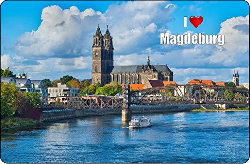 Cadora Magnetschild Kühlschrankmagnet I Love Magdeburg I