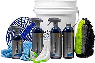 detailmate Set: Koch Chemie: Insect & Dirt Rem. 750ml + Nano Magic Shampoo 750 ml + Speed Glass Cleaner 750 ml + Allround QuickShine Finish 500 ml + 3in1 Wasch Handschuh + Eimer 5 GAL + Grit Einsatz