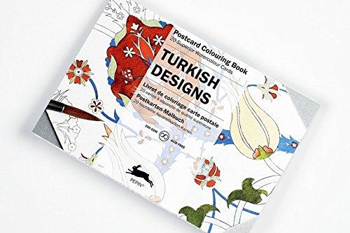 Turkish Designs: Postcard Colouring Book / Postkarten - Malbuch