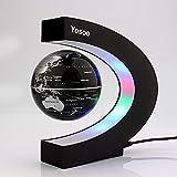 Yosoo C Forma Decoración Levitación Magnética Flotante Mapa del Mundo Globo Luz LED, globo flotante con LED luces de adornos para el hogar y la oficina