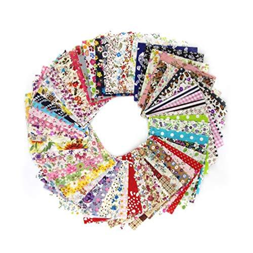 vosarea algodón Tejido de hoja de tela Floral Costura Artesanía Tejido Patchwork tuercas 60pcs
