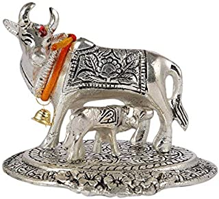 Aatm Brass Handicraft Figurine Kamdhenu Cow & Calf Shape Statue Best for Home & Office Decoration & Gift Purpose Handicraf...
