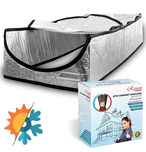 """Attic Door Insulation Cover - Attic Tent - Attic Ladder Insulation Cover - Attic Tent Insulation Cover - Attic Stairs Insulation Cover with Easy Zipper Access, 25""""x 54""""x 11"""""""