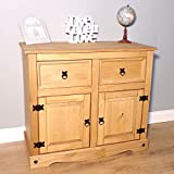 Mercers Furniture Trade Corona 2 Door 2 Drawer Sideboard Light Fiesta Wax