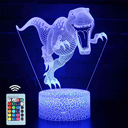 Dinosaur Night Light for Kids, VSATEN 16 Colors...