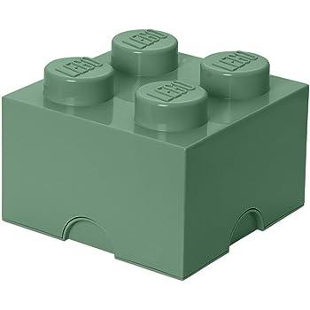 Room Copenhagen 4003 Ladrillo de Almacenamiento de 4 espigas de Lego, Caja de almacenaje apilable, 5,7 l, Legion/Sand Green, 25 x 25 x 18 cm: Amazon.es: Hogar