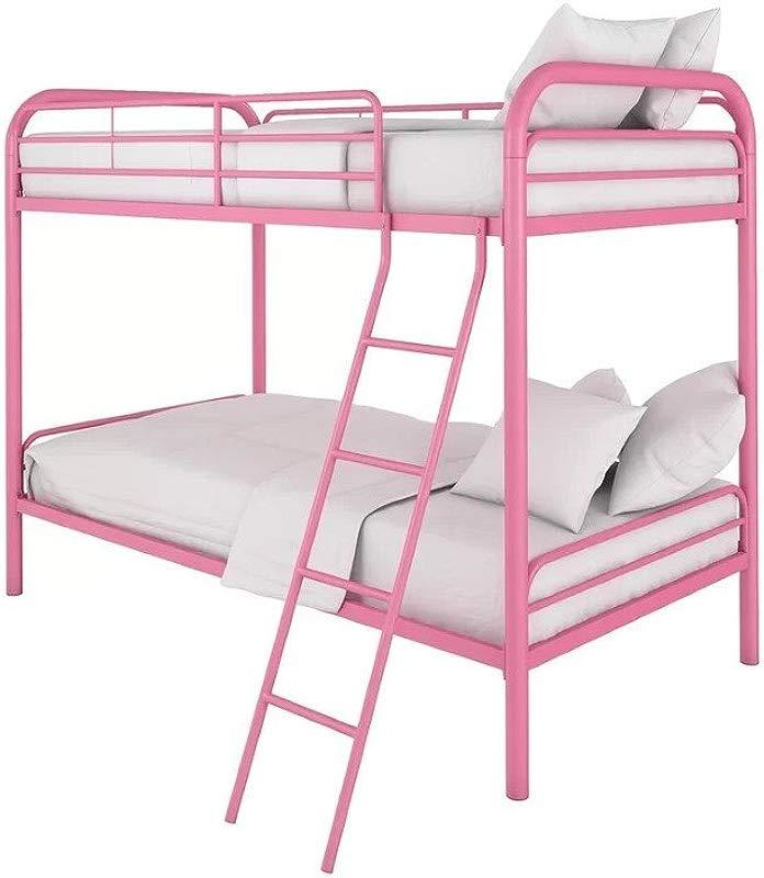 Viv Rae Maryanne Twin Over Twin Bunk Bed Kids Bedroom Furniture Pink