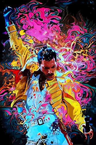 BINGSHUAI Freddie Mercury Poster decorazione pittura a olio pittura parete art soggiorno poster camera da letto pittura 20 cm* 30 cm Frameless