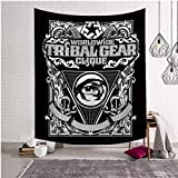 ChezMax Halloween Skull Square Polyester Digital Print Tapestry Multi Purpose Beach Towels Tablecloth Decorative Wall Hanging Mural Art Eye 59 X 51 inches