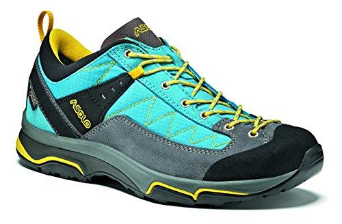 Asolo Pipe gV ML Chaussures de Montagne, Femme, Femme, A40033A793, Gris/Bleu Cyan, 7UK