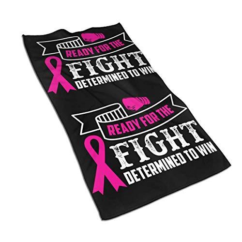 Pizeok Cancer for The Fight to Win Toallas de Mano de Fibra extrafina Toalla de Playa Ultra Suave Toalla de baño para Piscina para niños, niña