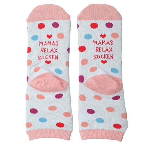 Die Geschenkewelt Gruss und Co 46334 Zauber Mamas Relax Socken, Geschenksocken, Mehrfarbig, Größe 36-40