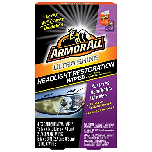 Armor All Car Headlights Cleaner Wipes  Cleaning for Cars amp Truck amp Motorcycle Ultra Shine 6 Count 18514