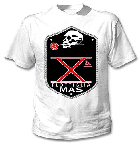 teesquare1st FLOTTIGLIA Decima MAS Camiseta Blanca para Hombre de Algodon Size Xlarge