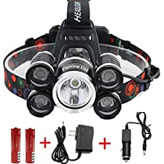 T'S A [GAME CHANGER] – Forget about those cheap headlamps that use AAA batteries… Those days are over! FightingGirl introduces the BRIGHTEST headlamp you have ever used! 5 Extremely High-Performance LED bulbs delivering 12000 Lumens beam (!) that wil...