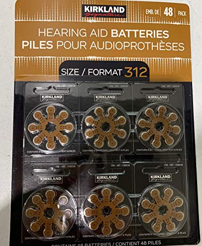 Kirkland Signature Hearing Aid Batteries 48 Pack (Size 312)
