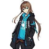 MZYSTJ Arknights アークナイツ アーミヤ 印象セット コスプレ衣装 男女兼用 秋冬服 (ズボン,XL)