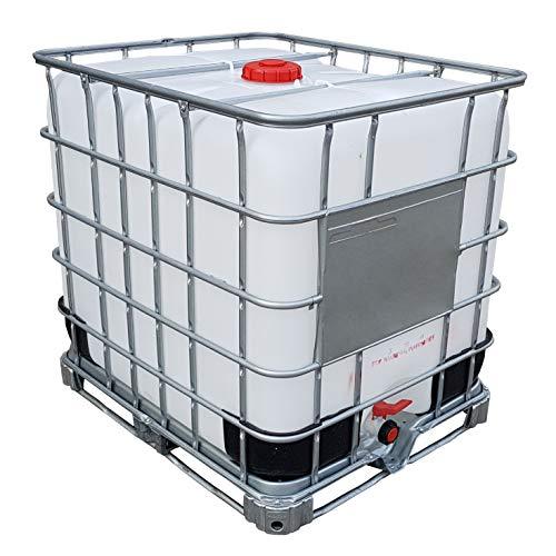 KLAREWO 1000l IBC Container Wassertank Regenwassertank Tank auf Stahlpalette GESPÜLT