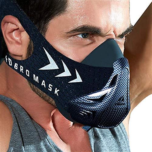 FDBRO Workout Mask Sports Training Mask FitnessRunning ResistanceCardioEndurance Mask for Fitness Training Sport Mask 30 with Carry Box Carbon FiberMedium