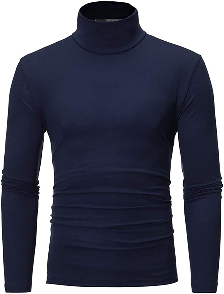 Sushine Men's Slim Fit Turtleneck T Shirts Casual Cotton Thermal Pullover Sweaters