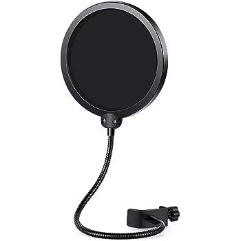 InnoGear Microfono Pop Filter con Double Layer Schermo Sano Guardia Vento Schermo Popfilter per Blue Yeti e Altri Recording Studio Mic