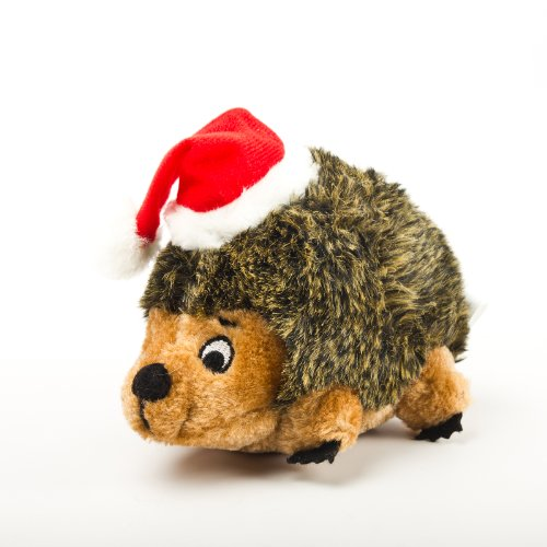 Outward Hound Kyjen Plush Puppies Holiday, Jr. Hedgehog, Dog Toy