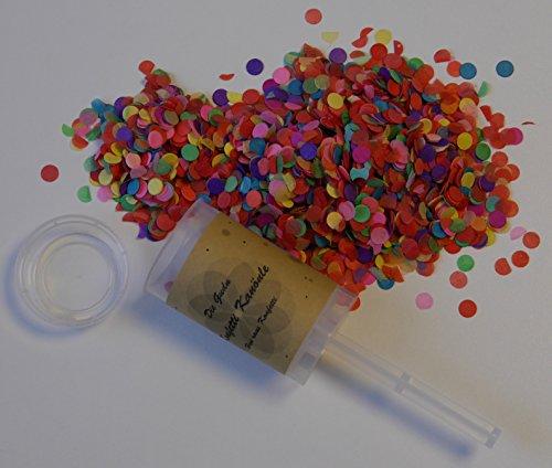 die gudn Konfetti Kanönle (6 Stück / Confetti-Push-Pop / wiederbefüllbar) für jeglichen Anlass (Hochzeit, Geburtstag, Silvester und sonstige Partys)