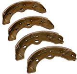 Golf Cart Brake Shoes for Club Car DS 1995-up and All Club Car Precedent Golf Cart, OEM# 1018232-01 (2 Short, 2 Long)