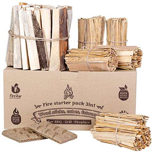 Fire Starter Squares - 100pc fire starters for fireplace -...