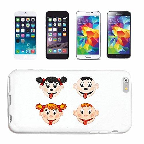 Reifen-Markt Hard Cover - Funda para teléfono móvil Compatible con Apple iPhone 5C niños Serie lengüeta hacia Fuera Muchacha con Las Trenzas niño Rubio
