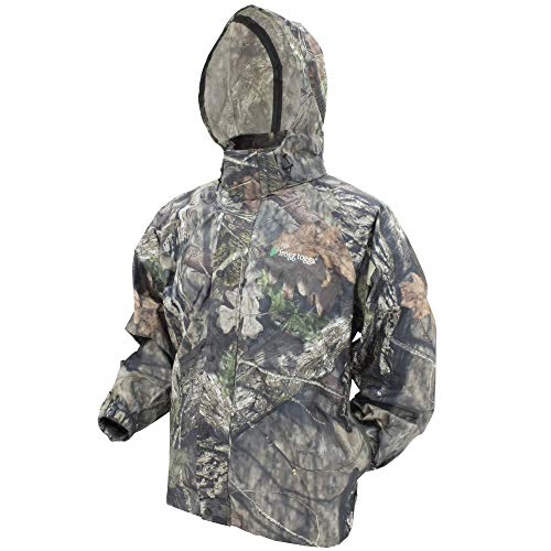 FROGG TOGGS Men's Classic Pro Action Waterproof Breathable Rain Jacket, Mossy Oak Break-up Country, Large
