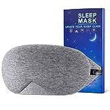 Chnaivy Schlafmaske Baumwoll Fraue,Herren,2019 Neue Design Premium Augenmaske Nachtmaske,100% Hautfreundlich Cotton Schlafbrille,Super weich und bequem,Verstellbarem Gummiband, für Reisen&Schlaf