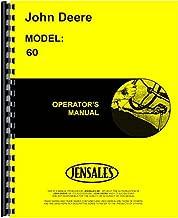John Deere 60 Tractor Owner Operators Manual s/n 6000001-6199999